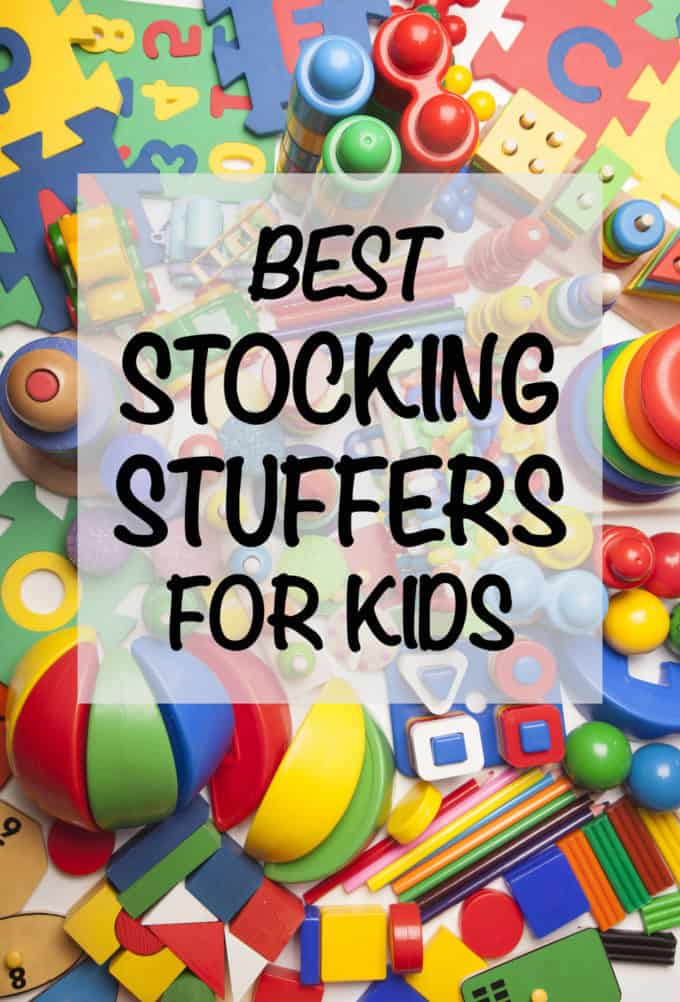 Tons of fun ideas for the best stocking stuffers for kids, everything from card games and bubbles to binoculars and play doh. Get great ideas for both classic and creative additions to your holiday stockings! #stockings #Christmasgifts #holidays #kids #gifts #giftideas #giftguide