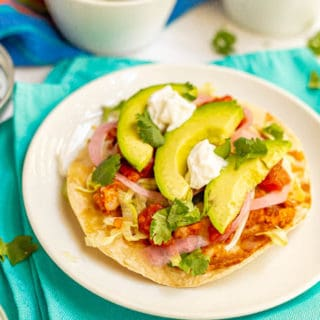 Easy turkey tostadas