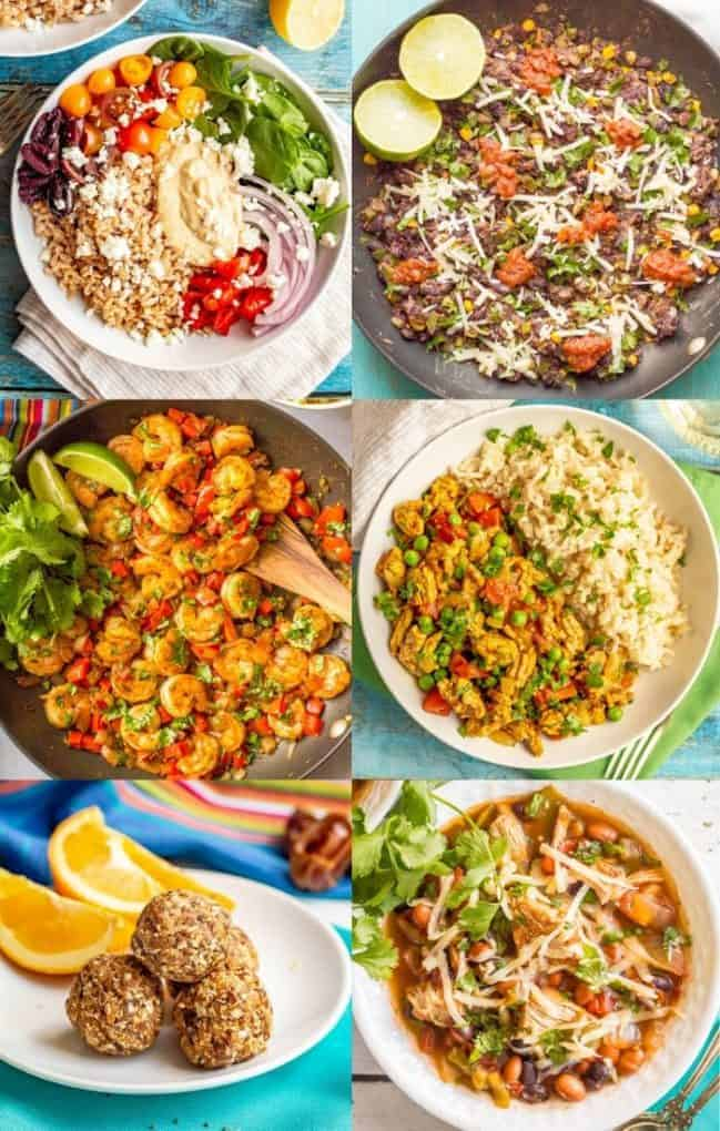 A collection of healthy dishes