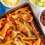 Sheet pan chicken fajitas (+ video)