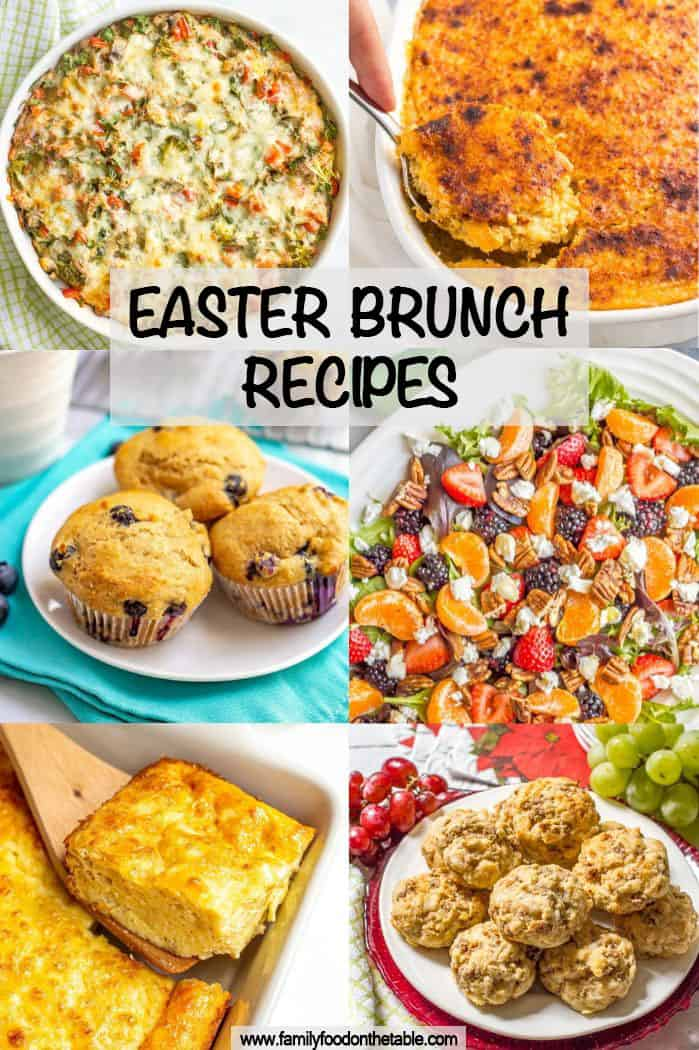 A collage of breakfast and brunch recipes with a text box on top