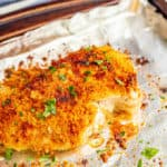Crunchy Parmesan crusted chicken