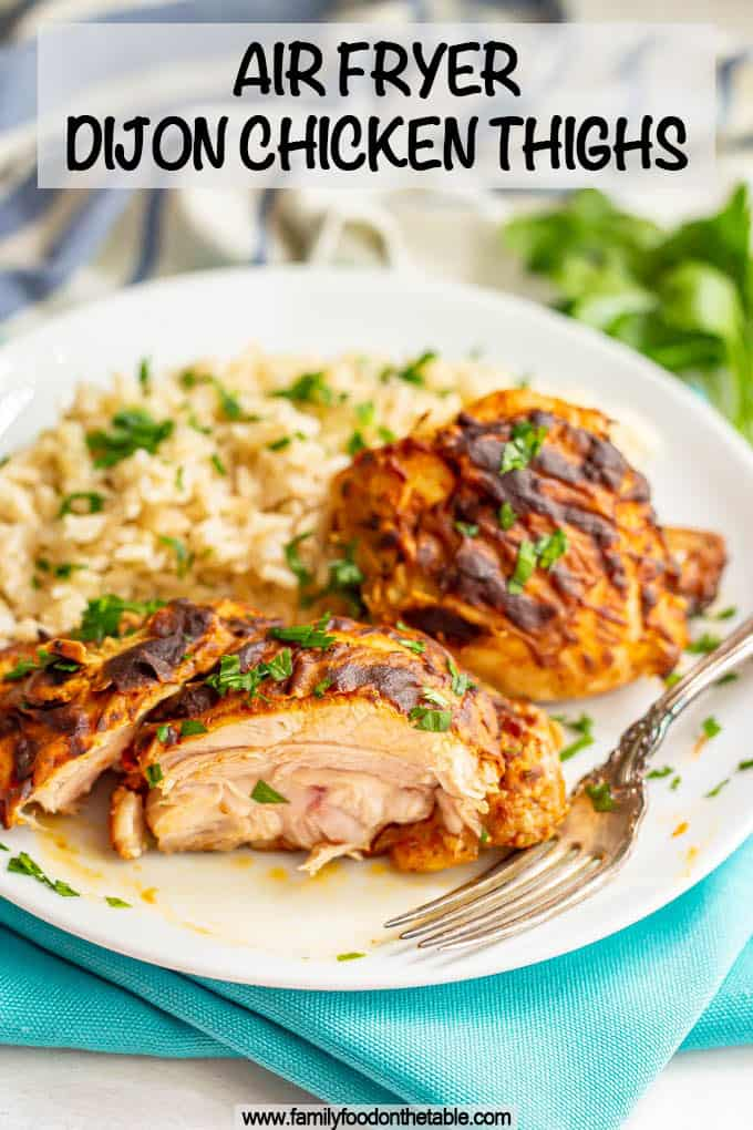 Dijon Air Fryer Chicken Thighs Family Food On The Table