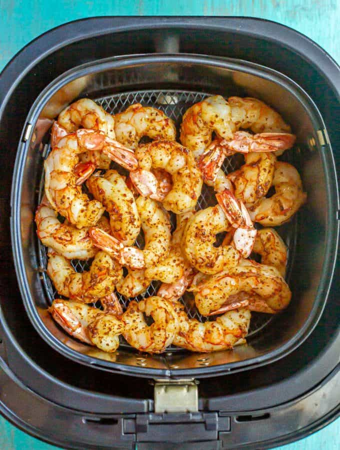 Seasoned Air Fryer shrimp after cooking