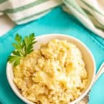 Cheesy brown rice