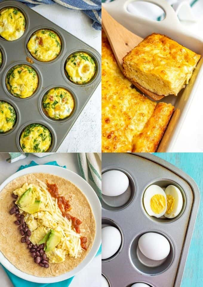 Collage of various breakfast recipes