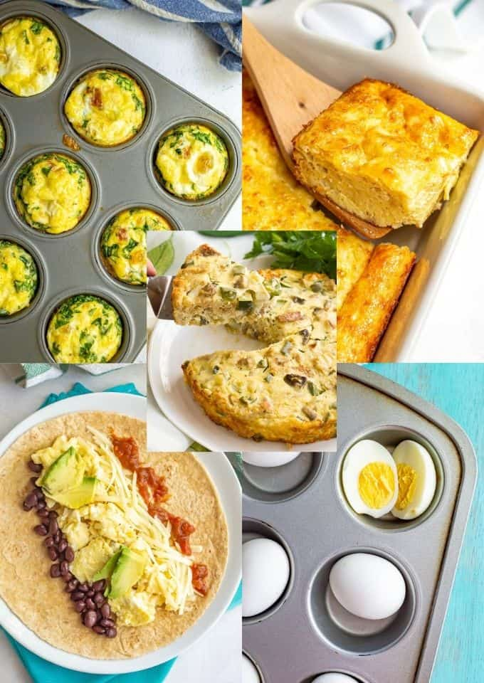 Photo collage of egg recipes
