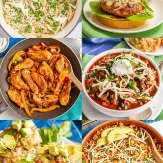 A collage of easy dinner ideas for camping