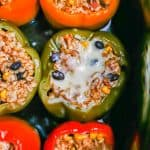 Slow cooker stuffed bell peppers